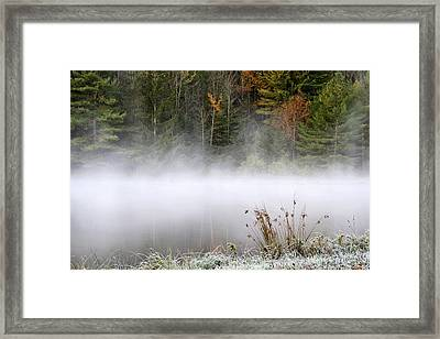 October Frost Landscape Framed Print by Christina Rollo