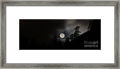 October Full Moon II Framed Print by Phil Dionne