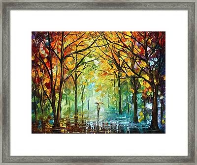 October In The Forest Framed Print by Leonid Afremov