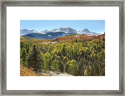 October In The San Juans Framed Print