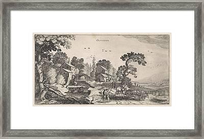 October, Jan Van De Velde II Framed Print by Jan Van De Velde (ii)