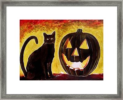 October Framed Print by Jeremy Moore