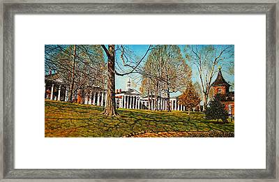 October Lawn Framed Print by Thomas Akers