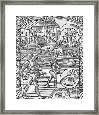 October  Libra Framed Print by Pierre Le Rouge
