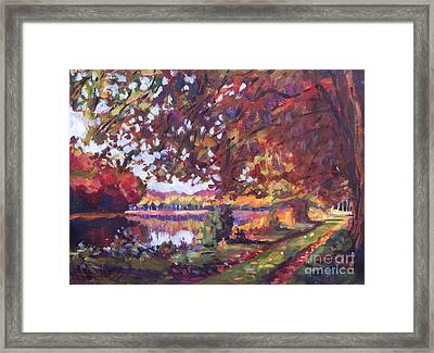 October Mirror Lake Framed Print by David Lloyd Glover