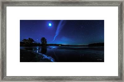 October Moon Framed Print by Everet Regal
