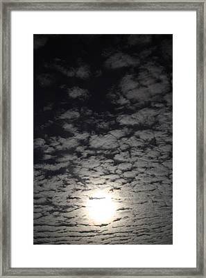 October Moon Framed Print by Joel Loftus