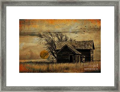 October Moon Framed Print