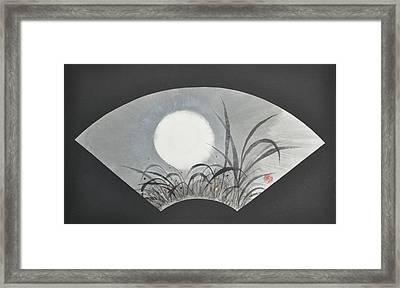 October Moonviewing Framed Print