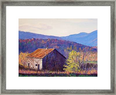 October Morning Framed Print by Bonnie Mason