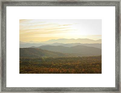 October Mountains Framed Print