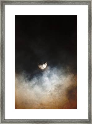 October Partial Solar Eclipse Framed Print by Melanie Lankford Photography