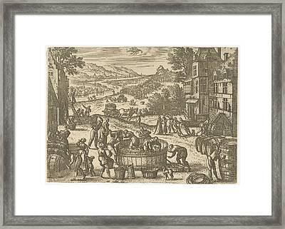 October, Pieter Van Der Borcht Framed Print by Pieter Van Der Borcht (i)