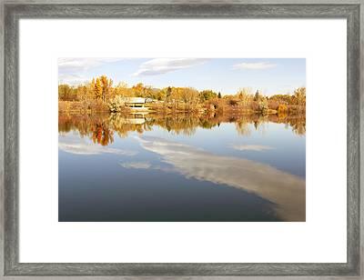 October Reflections Framed Print by Dana Moyer
