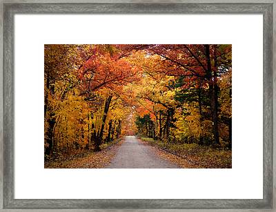 October Road Framed Print by Cricket Hackmann