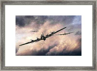 October Sky 1944 Framed Print by Peter Chilelli