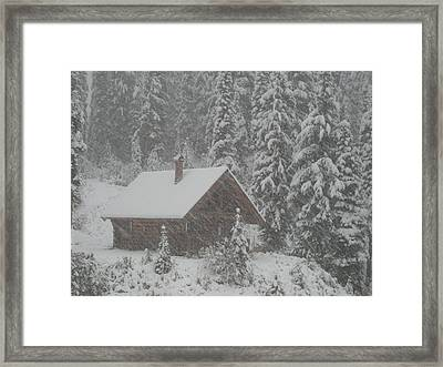 October Snowfall  --  British Columbia  Framed Print