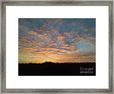 October Sunrise Framed Print