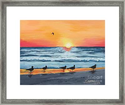 October Sunset On Siesta Key Florida Framed Print by J Linder