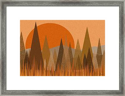 October Sunset Framed Print by Val Arie
