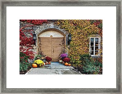 October Welcome Framed Print