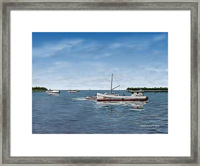 October's Catch Framed Print by Patrick Belote
