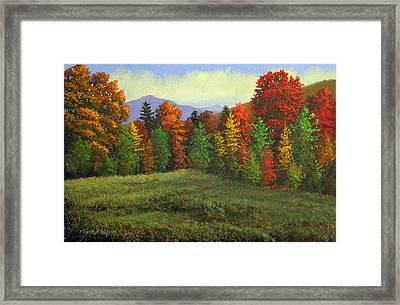 Octobers Ending Framed Print by Frank Wilson