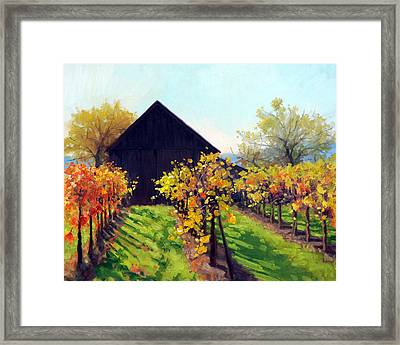 October's Golden Glow Framed Print by Armand Cabrera