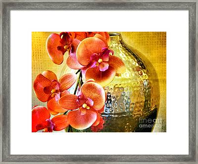 October's Orchids Framed Print