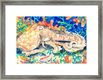 Octopus Delight Framed Print