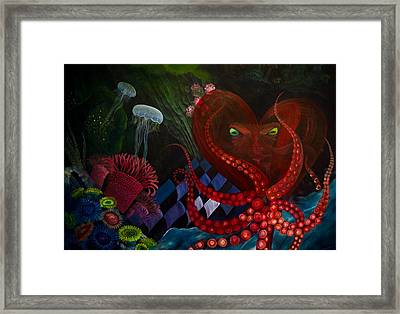 Octopus Heart Framed Print