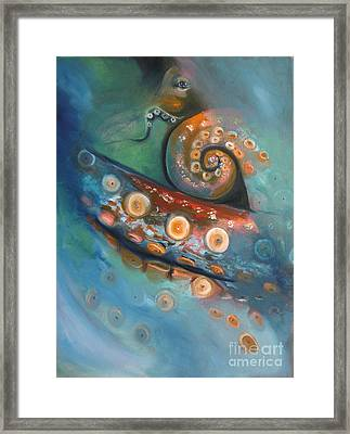 Octopus In The Mist Framed Print