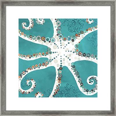 Octopus Framed Print by Jennifer Peck