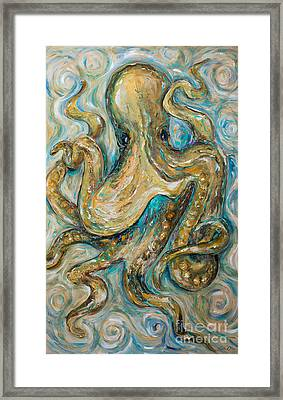 Octopus Tango Framed Print
