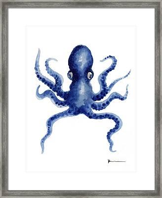 Octopus Watercolor Art Print Paniting Framed Print