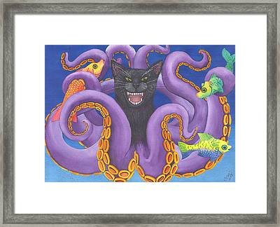 Octopussy Framed Print by Catherine G McElroy