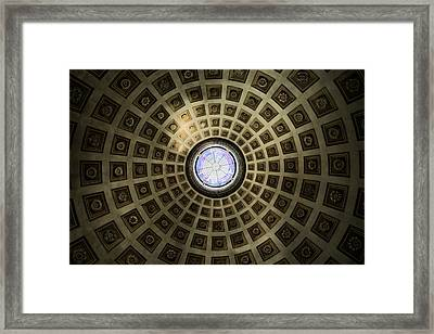 Oculus At The Baths Of Diocleian Framed Print by Joan Carroll