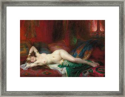 Odalisque Framed Print by Henri Adrien Tanoux