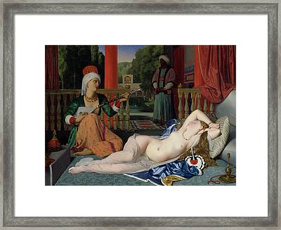 Odalisque With Slave Framed Print by Ingres