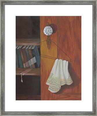 Framed Print featuring the painting Odd Friends by Tony Caviston