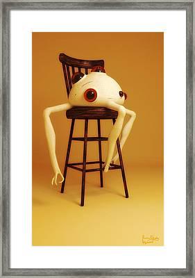 Framed Print featuring the digital art Oddball by Matt Lindley