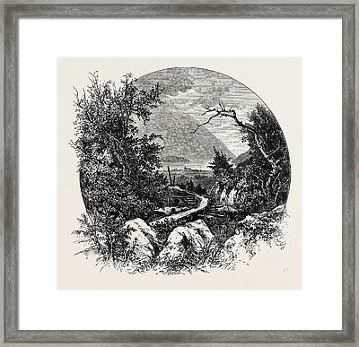 Odde. Odda Is A Municipality And Town In The County Framed Print