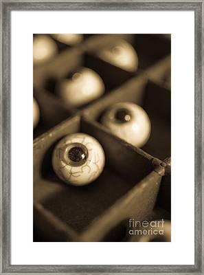 Oddities Fake Eyeballs Framed Print by Edward Fielding