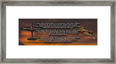 Ode Of Remembrance Framed Print by Paul Madden
