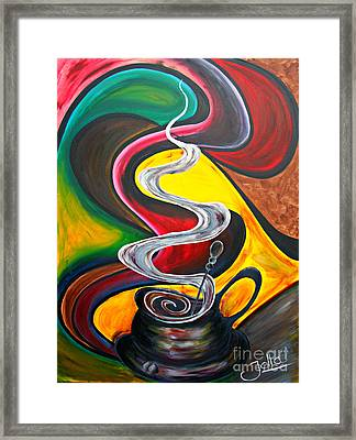 Ode To Coffee... Framed Print by Jolanta Anna Karolska