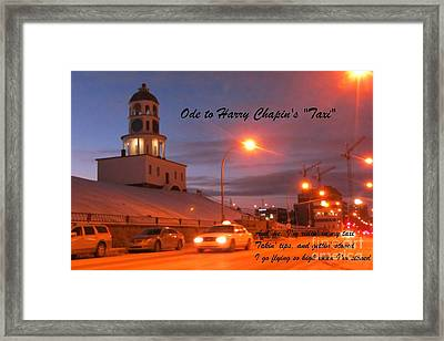 Ode To Harry Chapins Taxi Framed Print