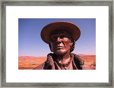 Ode To Jim Bridger Framed Print by John Malone