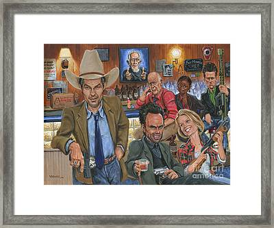 Ode To Justified Framed Print by Mark Tavares