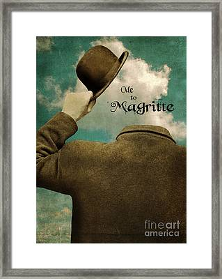 Ode To Magritte Framed Print by Jill Battaglia