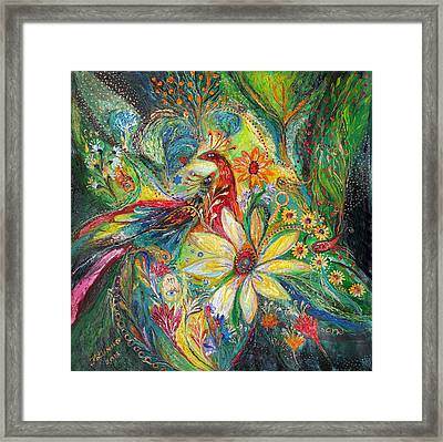 Ode To My Flowers Framed Print by Elena Kotliarker